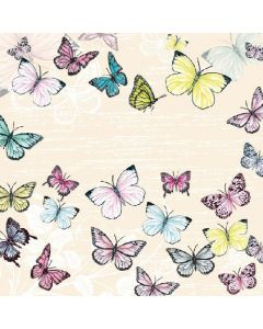 Butterfly - Cream - 4 Napkins for Decoupage