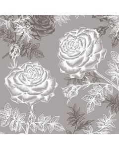 Etching Roses Grey - 4 Napkins for Decoupage