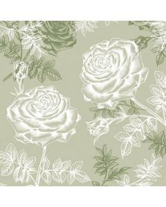 Etching Roses Green - 4 Napkins for Decoupage