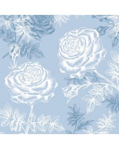 Etching Roses Blue - 4 Napkins for Decoupage