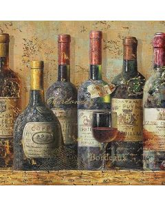 Best Wines - 4 Napkins for Decoupage