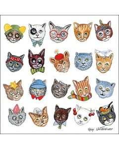 Funny Cats - 4 Napkins for Decoupage