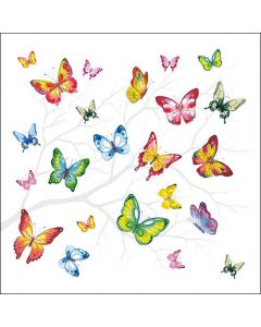 Colourful Butterflies - 4 Napkins for Decoupage