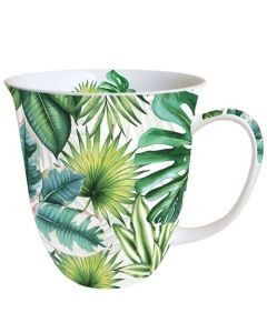 Tropical Leaves  0.4L Bone China Mug - Ambiente Mug