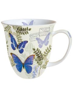 Blue Morpho  0.4L Bone China Mug - Ambiente Mug