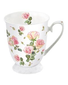 Rosie Rose White  0.25L Bone China Mug - Ambiente Mug