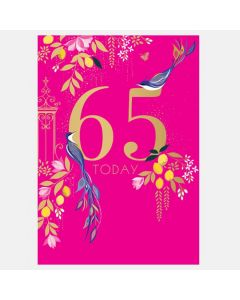 Sara Miller London 65th Birthday Card - Birds