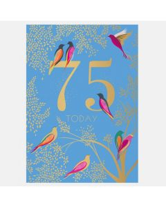 Sara Miller London 75th Birthday Card - Birds
