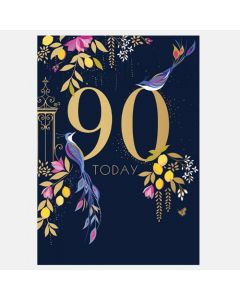 Sara Miller London 90th Birthday Card - Birds