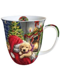 Puppy At Fire  0.4L Bone China Mug - Ambiente Mug