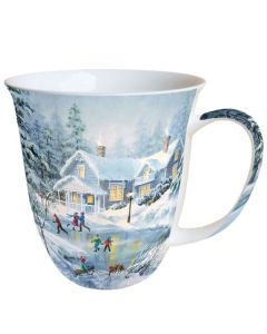 Evening Skating  0.4L Bone China Mug - Ambiente Mug