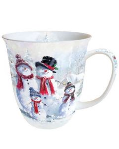 Snowman With Hat  0.4L Bone China Mug - Ambiente Mug