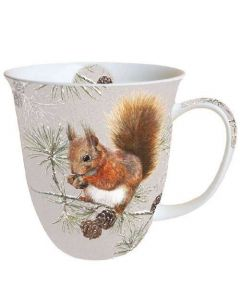 Squirrel In Winter  0.4L Bone China Mug - Ambiente Mug