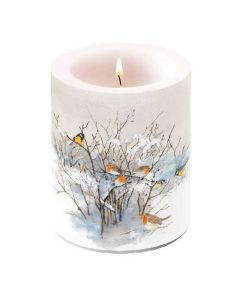 Ambiente Pillar Candle Birds on Branch