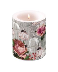 Ambiente Pillar Candle Rose Baubles