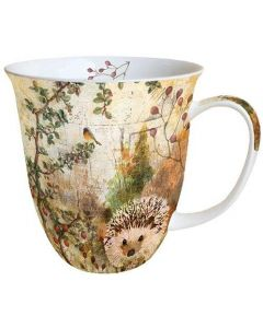 Autumn Hedgehog  0.4L Bone China Mug - Ambiente Mug