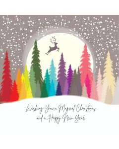 Five Dollar Shake Boxed Christmas Cards Wishing You A Magical Christmas And A Happy New Year Pack of 6