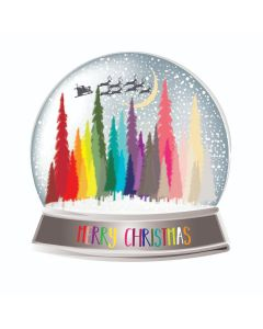 Five Dollar Shake Boxed Christmas Cards Merry Christmas Snowglobe Pack of 6