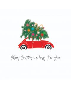 Five Dollar Shake Boxed Christmas Cards Merry Christmas And A Happy New Year Beetle Pack of 6