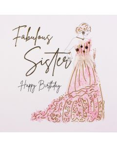 Five Dollar Shake Fabulous Sister Birthday Card