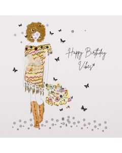 Five Dollar Shake Happy Birthday Vibes Birthday Card