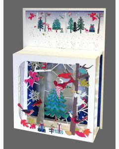 Angels in the Forest #BX807 - Magic Box Christmas Card