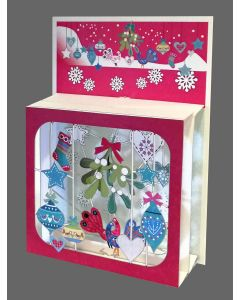 Forever Cards Magic Box Christmas Card Baubles and Mistletoe