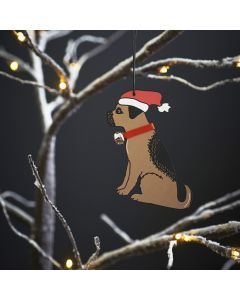 Border Terrier - Sweet William Christmas Decoration