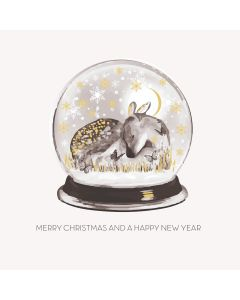 Five Dollar Shake Boxed Christmas Cards Merry Christmas And A Happy New Year Snowglobe Pack of 6