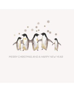 Five Dollar Shake Boxed Christmas Cards Merry Christmas And A Happy New Year Penguins Pack of 6