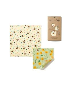 The Beeswax Wrap Co Emma Bridgewater Bees and Buttercups Beeswax Wrap  - Two Combo