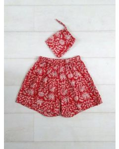 An Indian Summer Holly Boxer Shorts - Red