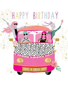 Sara Miller London Birthday Card On the Road
