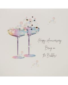 Five Dollar Shake Anniversary Card Happy Anniverary Bring On The Bubbles