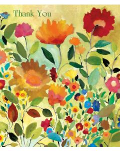 Summer Meadow Thank You - KP116  Kim Parker Floral Card
