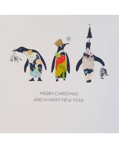Five Dollar Shake Christmas Card Merry Christmas and a Happy New Year Penguins