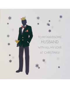 Five Dollar Shake Christmas Card To My Handsome Husband