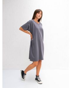 Chalk UK Linda Dress Charcoal