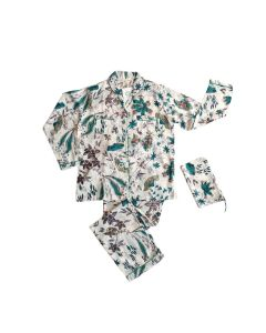 An Indian Summer Long Pyjama Set Botanica Teal