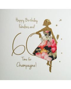 Happy Birthday, Fabulous &  60, Time for Champagne! - #NE34