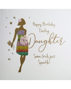 Happy Birthday Darling Daughter, Some Girls just Sparkle! - #NE52