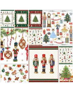 Nutcracker Christmas - Mixed pack of 20  Napkins for Decoupage