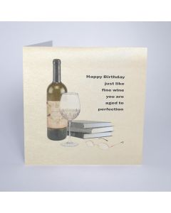 Five Dollar Shake Birthday Card Happy Birthday Just Like Fine Wine you are Aged to Perfection