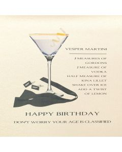 Five Dollar Shake Birthday Card Happy Birthday - Your Age is Classified