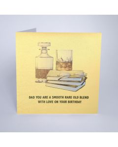 Five Dollar Shake Birthday Card Dad, You are a Smooth, Old, Rare Blend