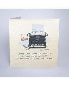 Five Dollar Shake Birthday Card Every Love Story is Beautiful - Husband Anniversary