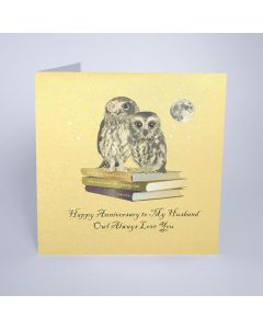 Five Dollar Shake Birthday Card Happy Anniversary to My Husband - Owl Always Love You