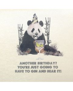 Five Dollar Shake Birthday Card Another Birthday? You're Just Going to have to Gin and Bear It!