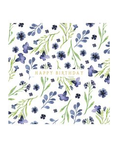 The Art File Natural Phenomenon Birthday Card Blue Flowers