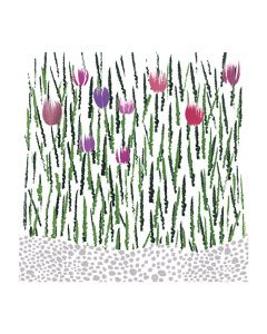 The Art File Natural Phenomenon Blank Card Pink & Purple Flowers